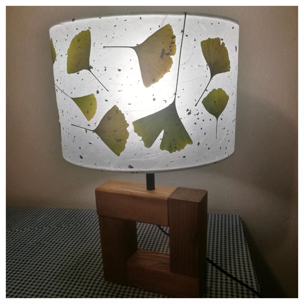 papírové stínidlo na lampu