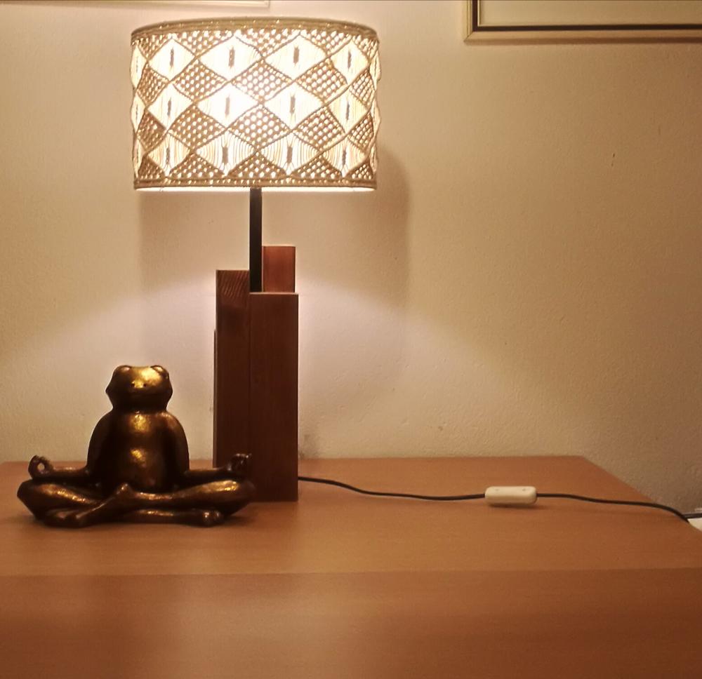 macrame lampa